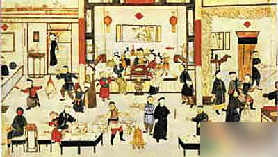 清朝皇家过年场景图片